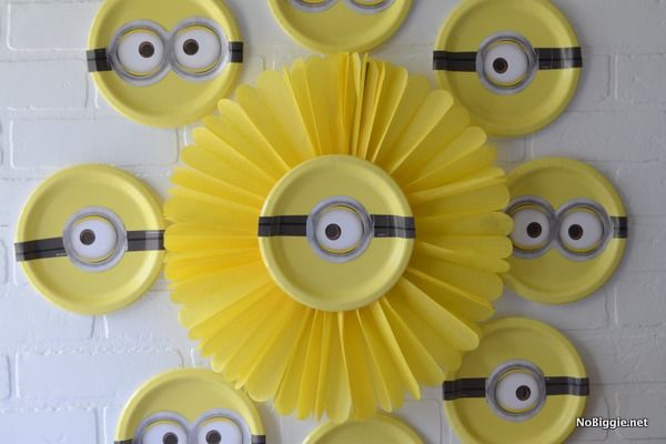 Paper Puff Ball Decorations Amusing Minion Paper Puff Ball Decoration And Plates Pictures Photos And Inspiration Design