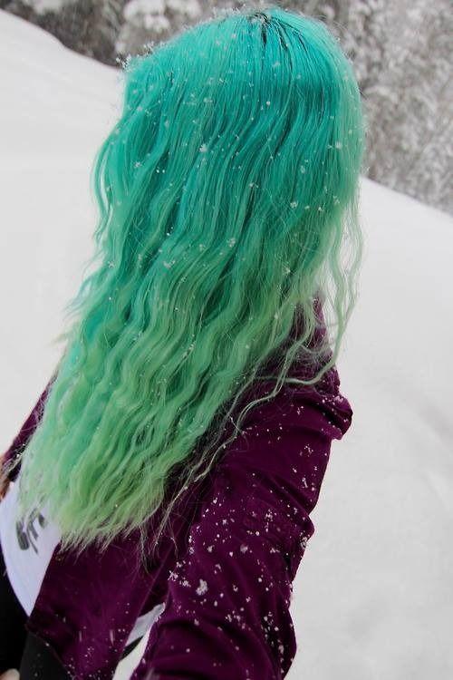 green ombre hair