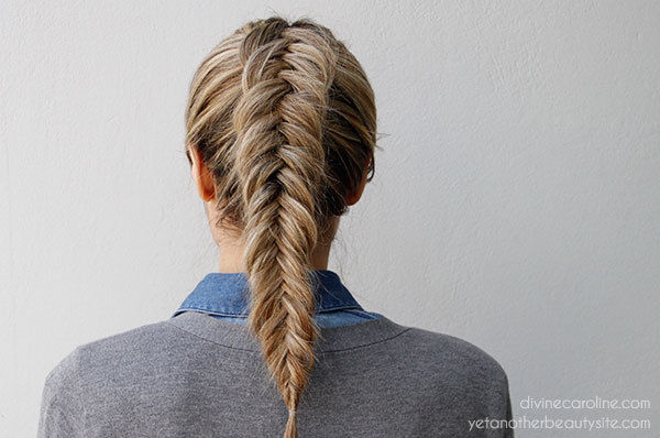 How To Do An Inverted Fishtail Braid Hairstyle Video Tutorial Hair S