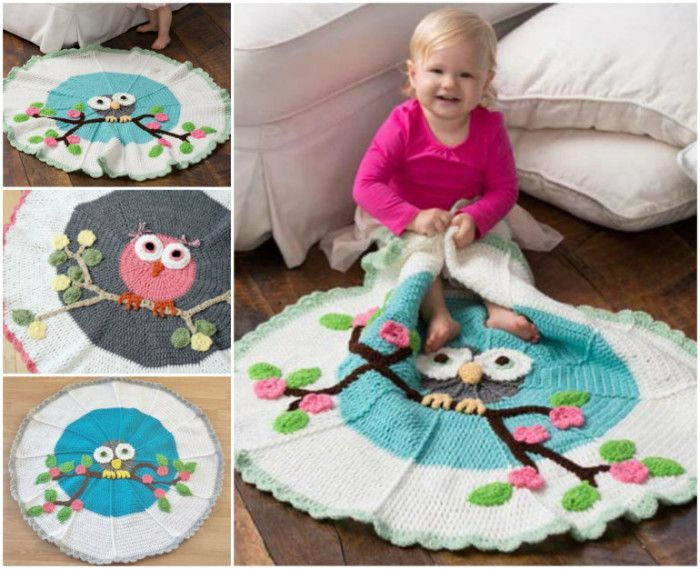 Adorable Owl Crochet Baby Blanket