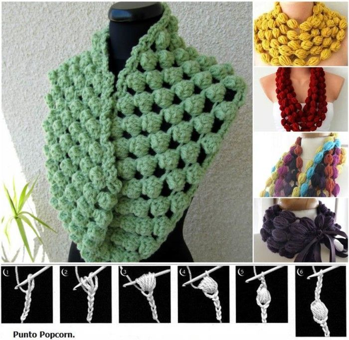 Popcorn Crochet Scarf Pictures Photos And Images For Facebook