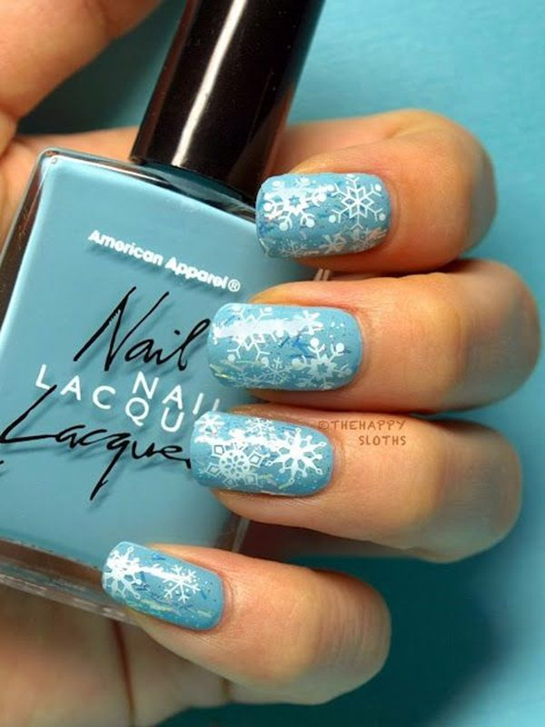 Baby Blue Snowflake Nails Pictures, Photos, and Images for Facebook ...