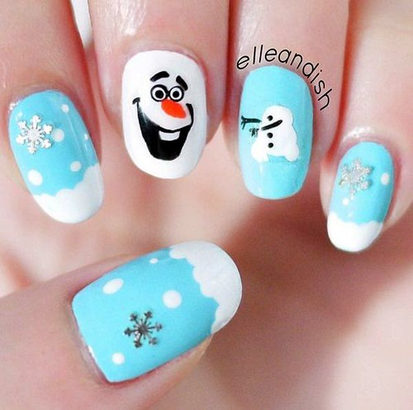 Olaf Frozen Nails - Olaf Frozen Nails Pictures, Photos, And Images For Facebook, Tumblr