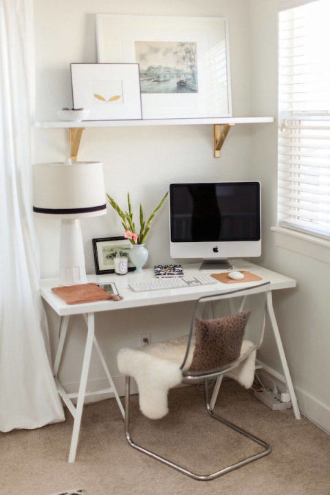 Clean White Minimalist Home Office