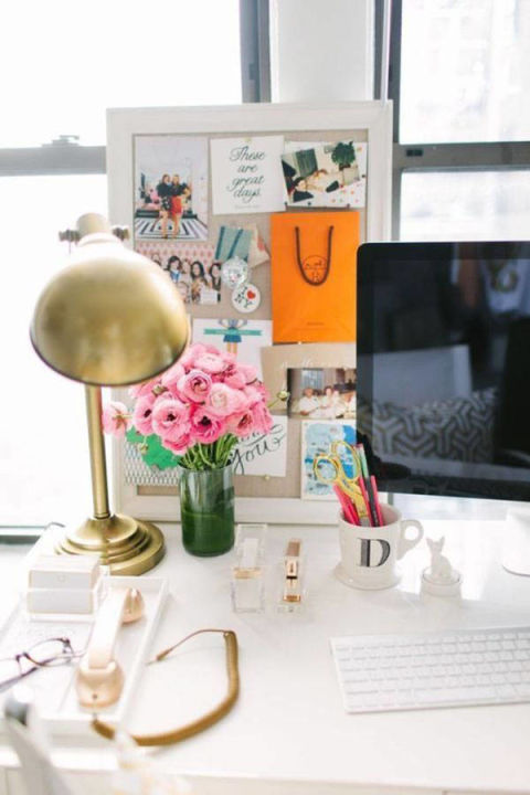cute girly home office idea pictures, photos, and images for
