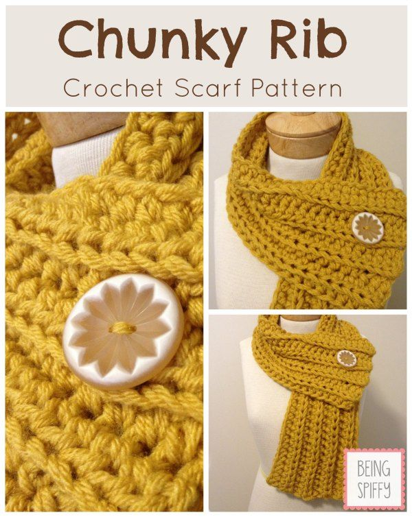 Chunky Rib Crochet Scarf Pattern Pictures Photos And Images For