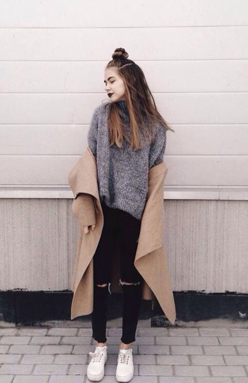 Grunge street outfit for winter pictures photos and images for facebook tumblr pinterest Fashion style girl hiver 2015