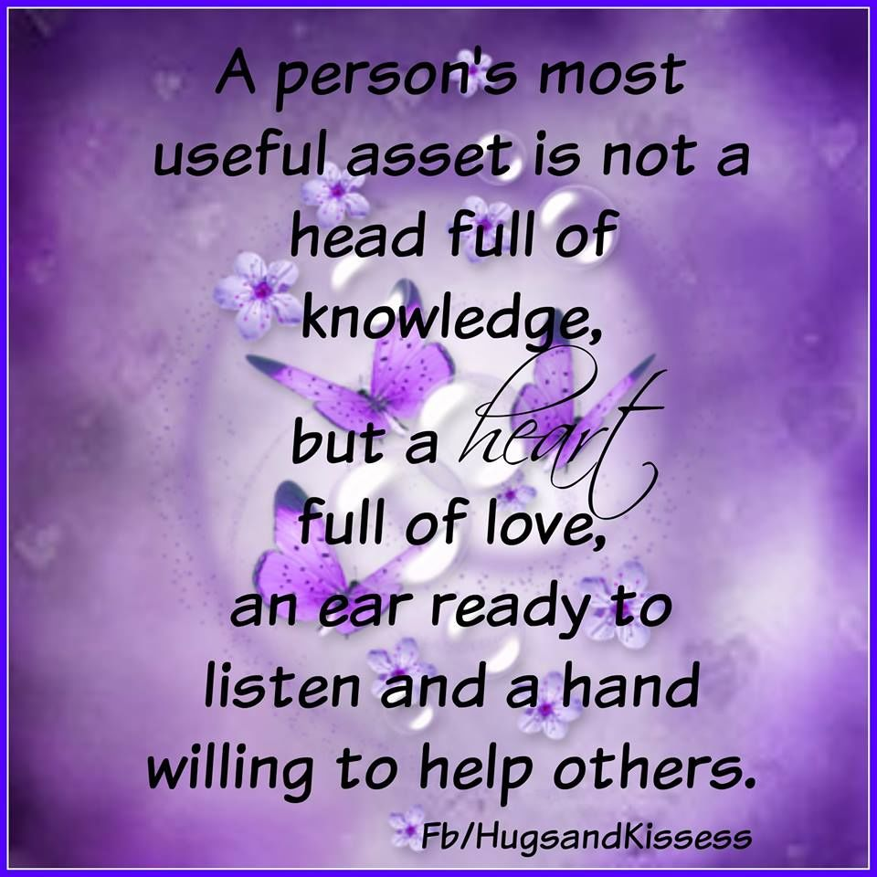 A Persons Most Useful Asset Is...