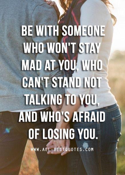 afraid of losing u quotes