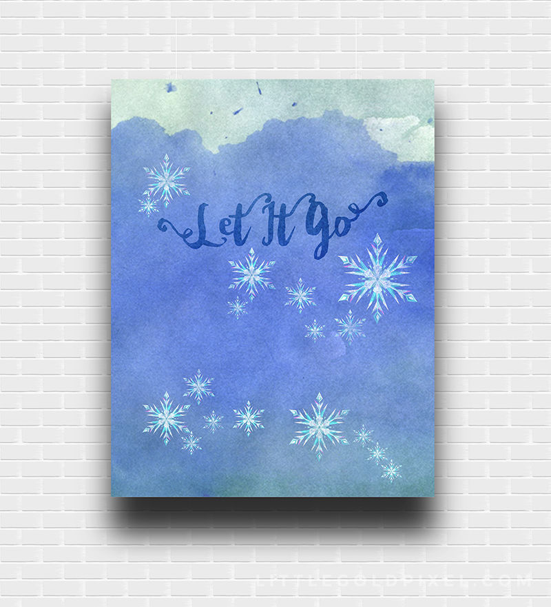 Frozen Wall Art frozen let it go wall art pictures, photos, and images for