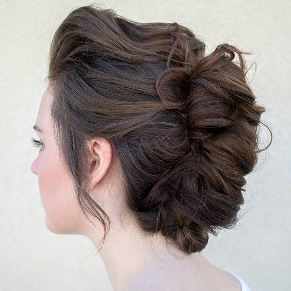 Brown Braided Updo Hairstyle Pictures Photos And Images