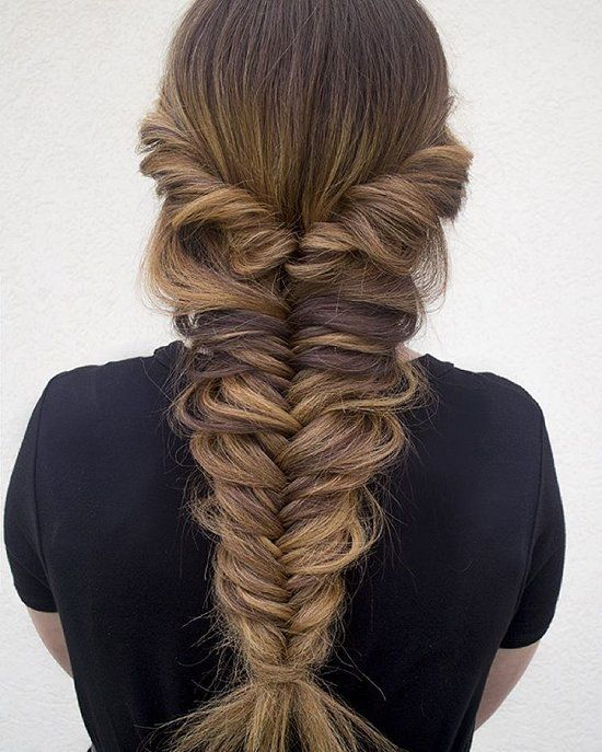 Thick Messy Fishtail Braid Pictures Photos And Images