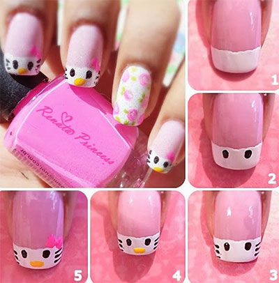Diy Easy Hello Kitty Nail Art Pictures Photos And Images For