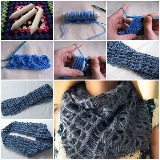 Stylish Broomstick Lace Crochet Scarf Pictures Photos And Images