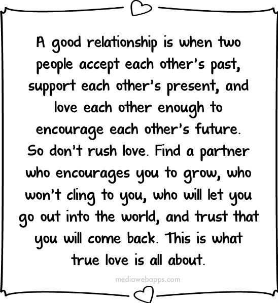 Is relationship good