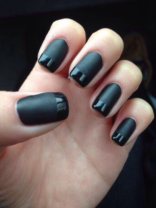 Black Gloss Tipped Manicure Pictures Photos And Images For Facebook Tumblr Pinterest And