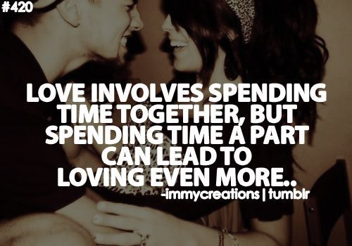 Love Involves Spending Time Together, But Spending Time A