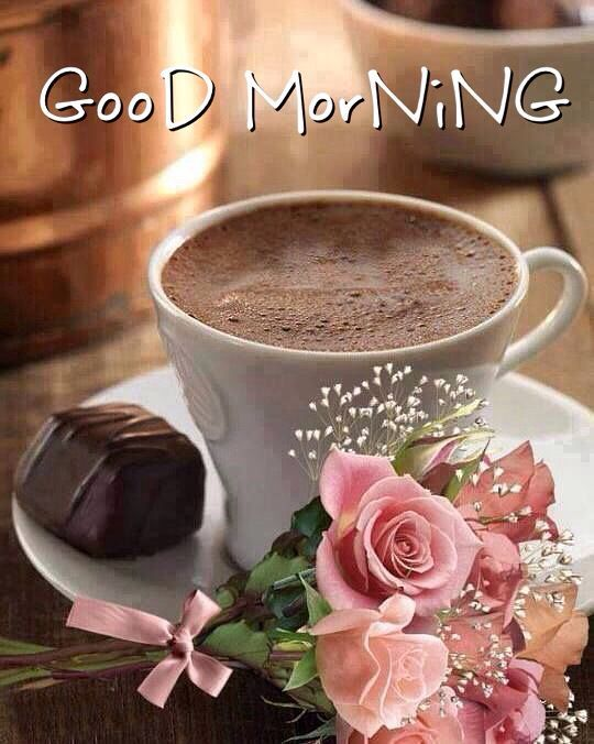 Good Morning Coffee Chocolate And Roses Pictures, Photos