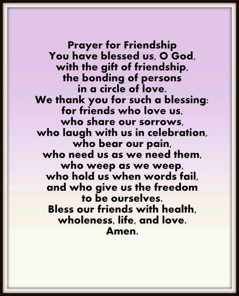 Prayer for good friends