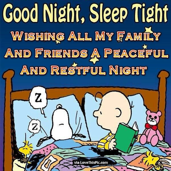 Good Night Sleep Tight Family And Friends Pictures, Photos