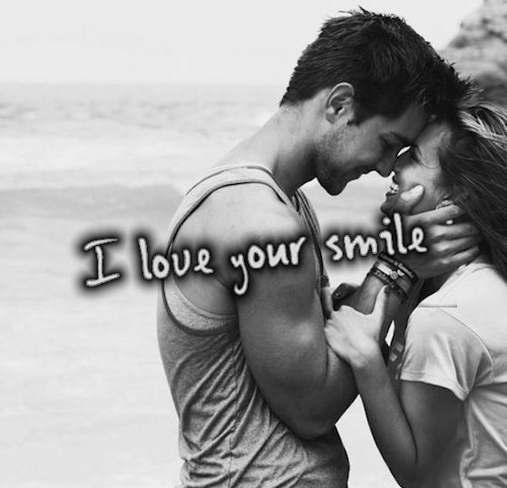 I Love Your Smile Quotes Simple I Love Your Smile Quote With Cute Couple Pictures Photos And