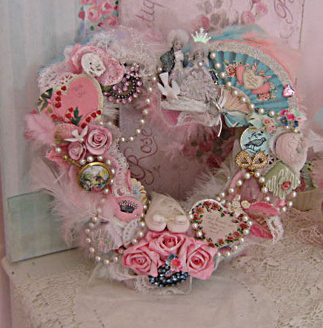Shabby Chic Valentine Heart Wreath Pictures Photos And
