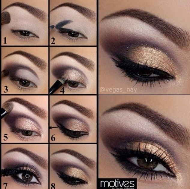 Purple And Gold Eye Makeup Tutorial Pictures Photos And Images For