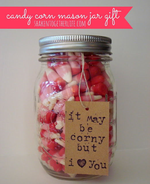Valentine Candy Corn Mason Jar Gift Pictures, Photos, And