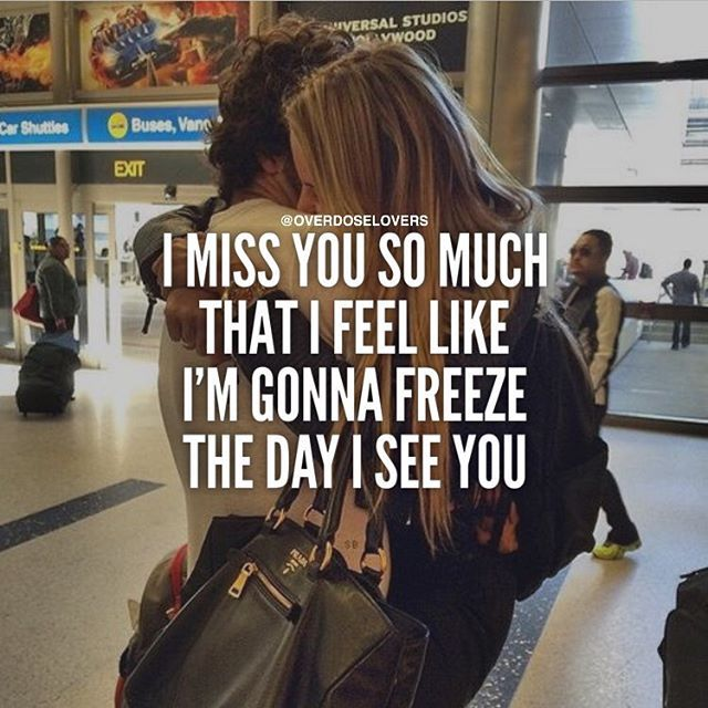 I Miss You So Much That I Feel Like I'm Gonna Freeze The Day