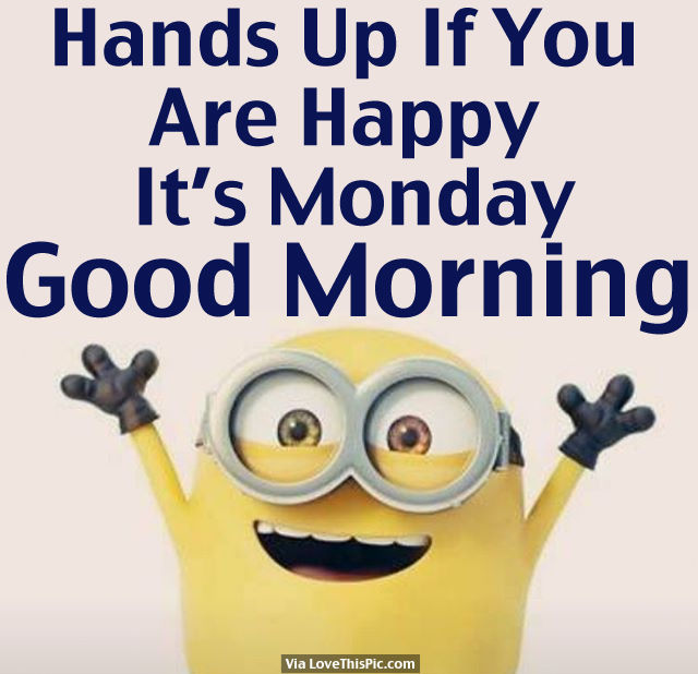 Hands up if you are happy its monday good morning pictures photos hands up if you are happy its monday good morning thecheapjerseys Gallery