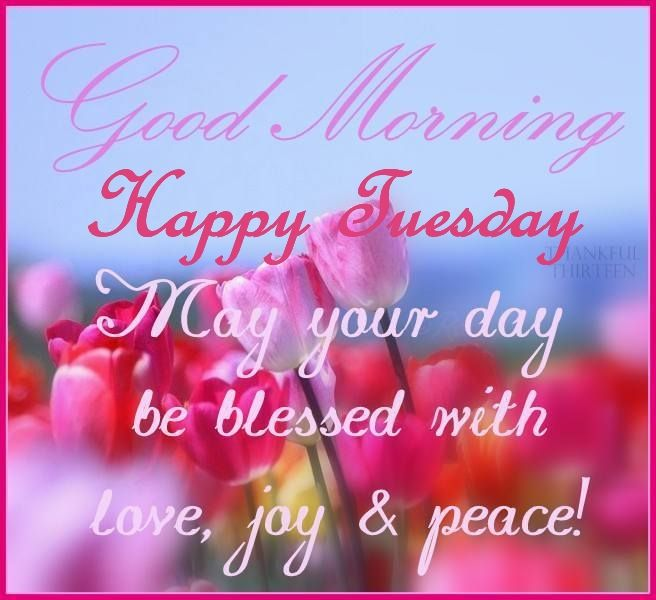 Good Morning Happy Tuesday May Your Day Be Blessed ...