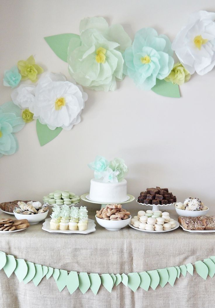 Tissue Paper Flower Decor For Garden Tea Party Pictures Photos And