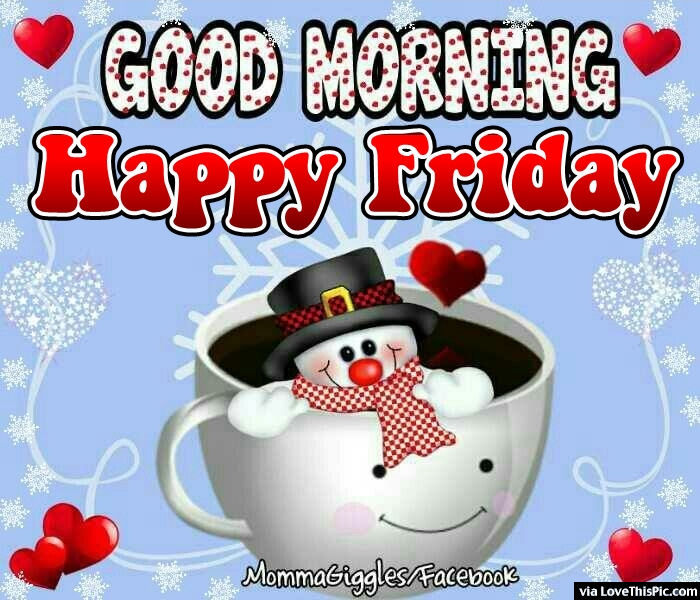 Friday Christmas Quotes: Cute Snowman Happy Friday Good Morning Quote Pictures