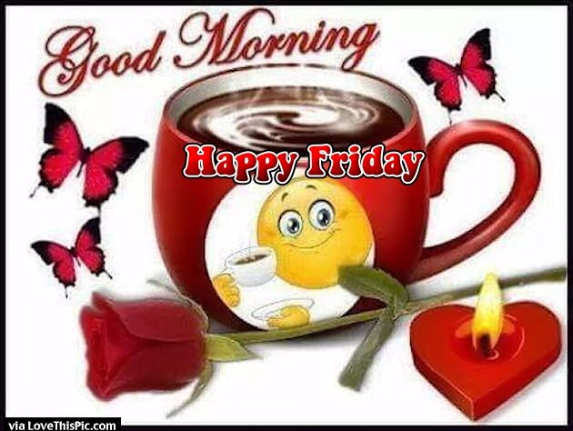 Cute Good Morning Happy Friday Coffee Quote