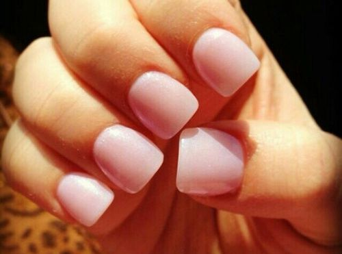 Short Square Pink Nails Pictures, Photos, and Images for