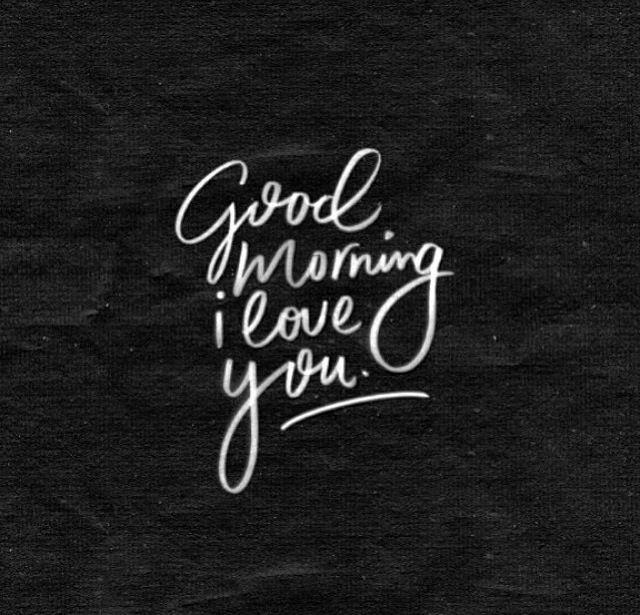 good white Black morning love and