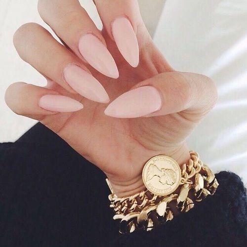 Watch - Pink light stiletto nails video