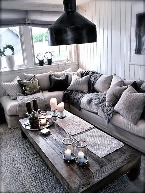 Cozy grey living room decor pictures photos and images for facebook tumblr pinterest and Grey home decor pinterest