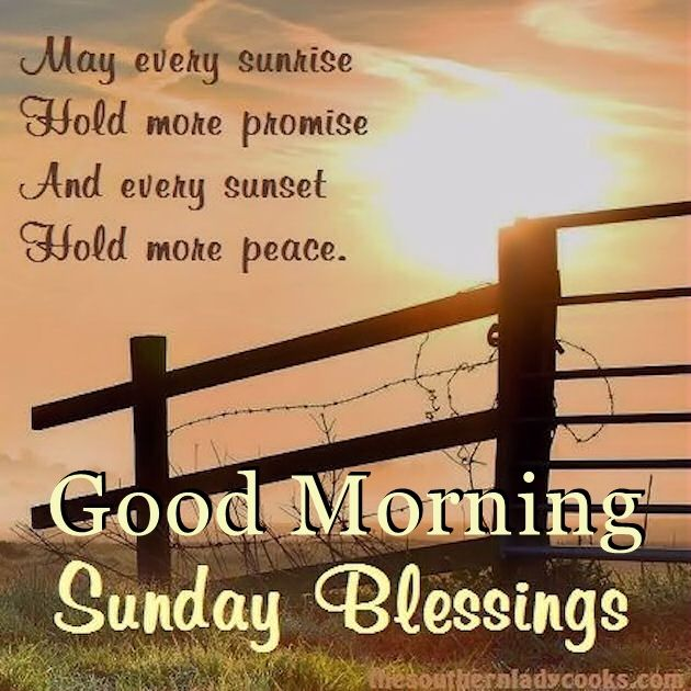 good morning sunday blessings quote