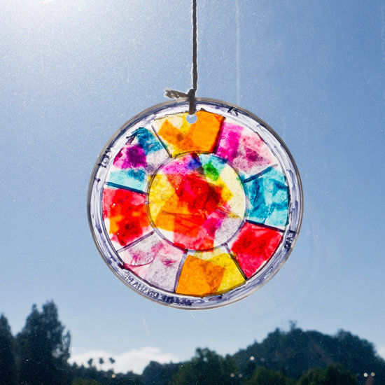 Easy Stained Glass Window Hanging Craft Pictures Photos