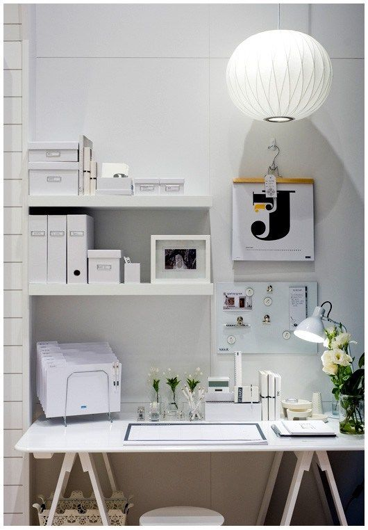 clean white home office pictures, photos, and images for facebook