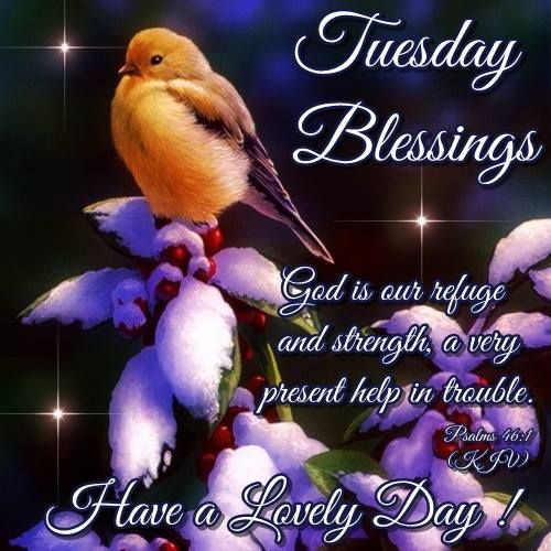 Tuesday Blessings God Is Our Refuge And Strength Pictures