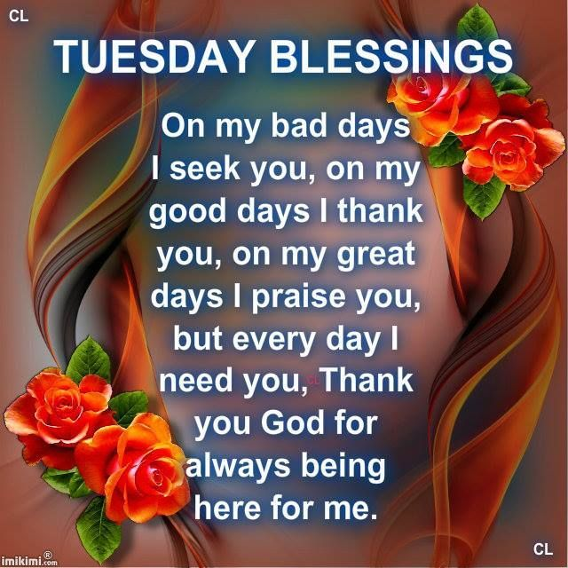 Image result for image of tuesday blessings