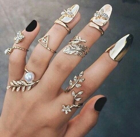 Hand full of rings pictures photos and images for What finger to wear a ring on female