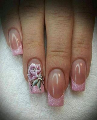 Pretty Pink Rose Nail Art Pictures Photos And Images For Facebook
