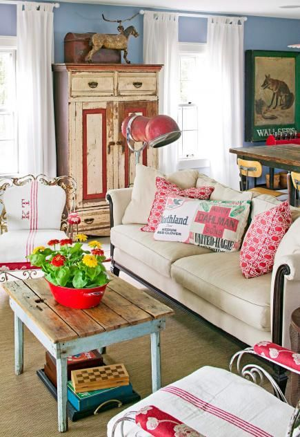 Living Room Vintage vintage living room. retro living room with pretty prints living