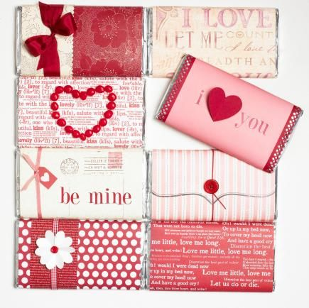 Wrap Up Candy Bars In Festive Valentine S Day Gift Wrap Pictures
