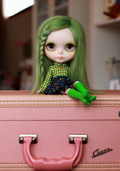 Cute Green Haired Doll Pictures, Photos, and Images for