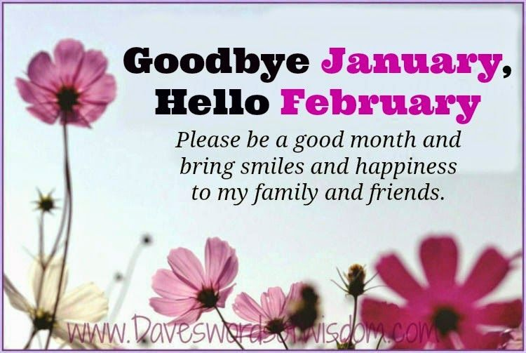 Goodbye January Hello February Please Be A Good Month ...