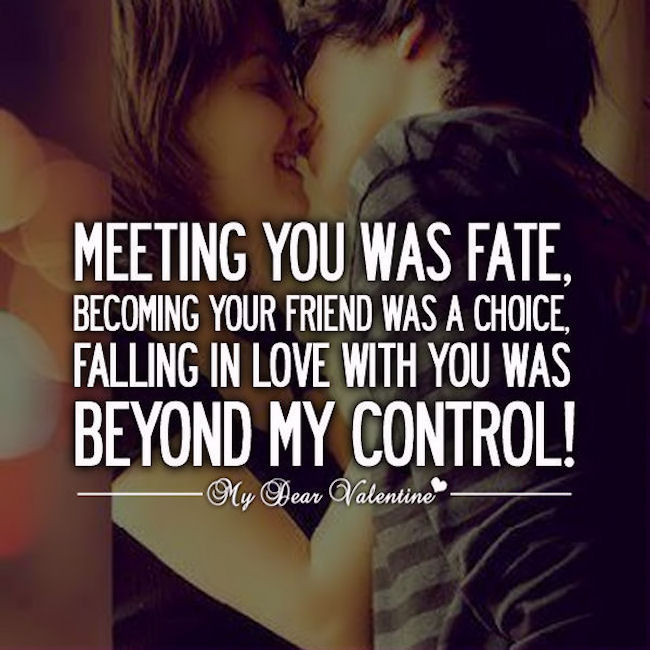 Falling In Love With My Baby Quotes : Falling in love with you was beyond my control pictures